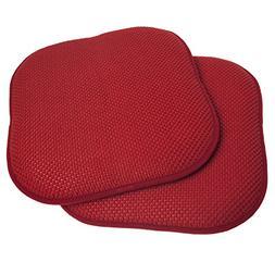 "2 Pack Memory Foam Honeycomb Nonslip Back 16"" x 16"" Chair/Se"
