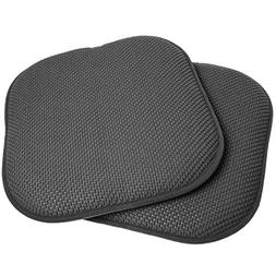 "2 Pack Memory Foam Honeycomb Nonslip Back 16"" x 16"" Chair/Se"