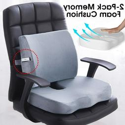 Memory Foam Lumbar Back Support Pillow Home Office Chair Sea