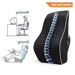 PROMIC Memory Foam Lumbar Support Back Cushion, Ergonomic Lu