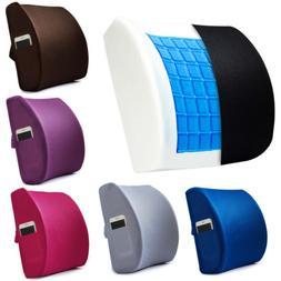 Memory Foam Lumbar Support Cooling Gel Back Cushion 3D Mesh