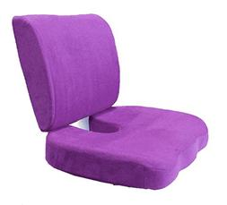 BookishBunny 2pc Memory Foam Seat Chair Waist Lumbar Back Su