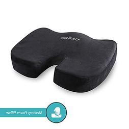 Memory Foam Seat Cushion with Removable Microfiber Cover - C