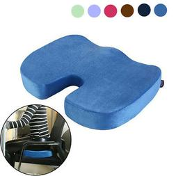 Memory Foam Seat Cushion Back Tailbone Pain Relief Pillow fo