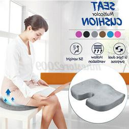 Memory Foam Seat Cushion Orthopedic Coccyx Cushion Chair Pad