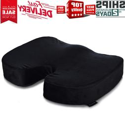 Memory Foam Seat Cushion - Comfort Orthopedic Design to Reli