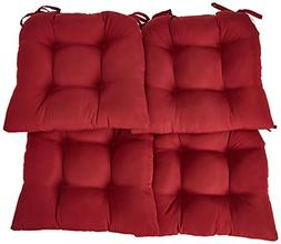 Essentials Micro Fiber Set of Four  Seat Cushions Barn Red-C