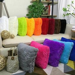 Modern Soft Plush Throw Pillow Case Fluffy Sofa Cushion Cove