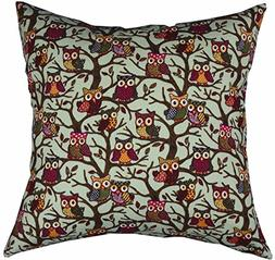 Multi-sized Both Sides Night Owl Printed Cushion Cover Liveb