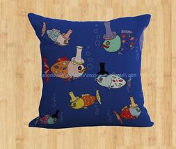 Nautical sea life fish cushion cover cheap pillow covers for