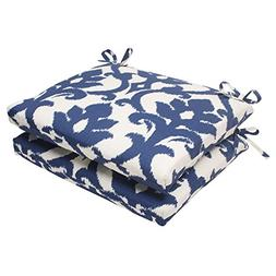 Pillow Perfect Navy Square Seat Cushions