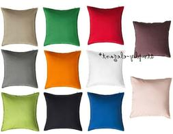 "IKEA GURLI CUSHION COVER 20 x 20"" Solid Vibrant Colors Cotto"