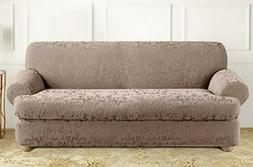 NEW Sure Fit Stretch Jacquard Damask T cushion Sofa Slip cov