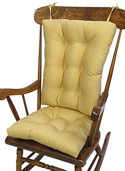 The Gripper Non-Slip Twill Rocking Chair Cushions, Cinder To
