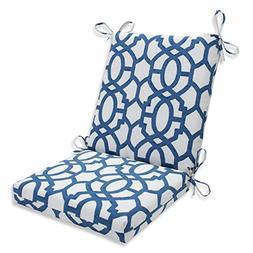 Nunu Geo Ink Blue Squared Corners Chair Cushion