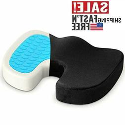 Office Chair Coccyx Cushion Seat Gel Memory Foam Pad Car Pil
