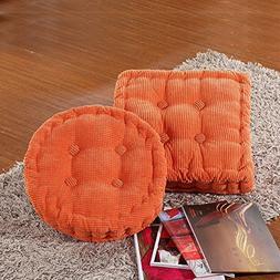 Ozzptuu 2Pcs Office Thick Corduroy Elastic Seat Cushion Soft