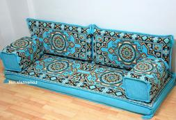 Oriental Floor Seating Sofa Turquoise Arabic cushions Turkis