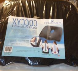 PharMeDoc Orthopedic Coccyx Seat Cushion in Black, NEW in ba