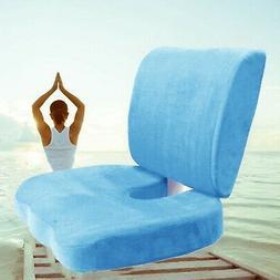 Orthopedic Comfort Memory Foam Coccyx Seat Pad + Back Suppor