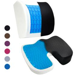 Orthopedic Cooling Gel Therapy Memory Foam Lumbar Supports +