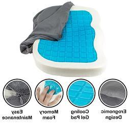 Orthopedic Gel Comfort Memory Foam Seat Cushion, Office Chai