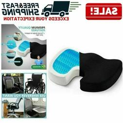 Orthopedic Gel Seat Cushion Memory Foam Office Chair Pad Pil