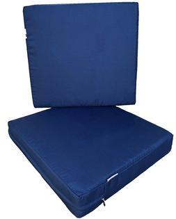 Outdoor 2 Pack Deep Seat Chair Patio Cushions Memory Foam 20