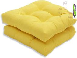 Pillow Perfect Outdoor/Indoor Fresco Tufted Seat Cushions ,