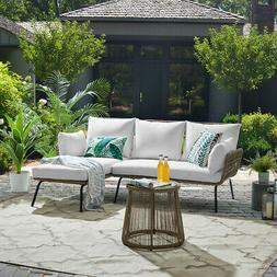 Outdoor Patio Sectional Rattan Furniture Set Seat Cushioned