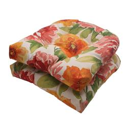 Pillow Perfect Outdoor Primro Wicker Seat Cushion, Orange, S