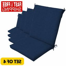 outdoor seat chair patio cushions blue pad
