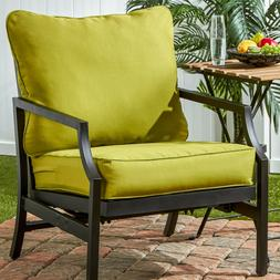 Outdoor Solid Deep Seat Cushion Set Kiwi Green Replacement f