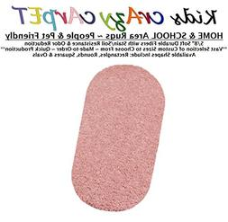Oval 4'X6' - FAIRY DUST PINK ~ Kids crAzy cArpET Home & Scho