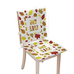 pad for chairbench Chair padSales Banner with Autumn Leaves