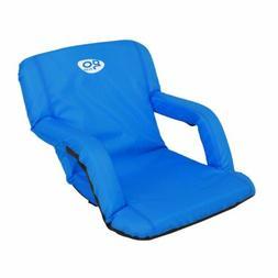 Padded Stadium Chair Wide Seat Cushion Bleacher Folding Port
