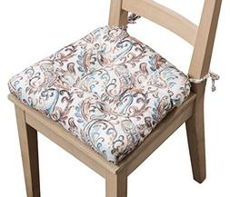 Arlee Paisley Set of Two  Chair Pad Seat Cushions  -Memory F