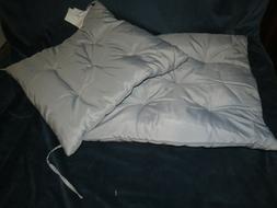vidaXL Patio Seat Cushion Reversible Set of 2 Smoke Grey, Sp