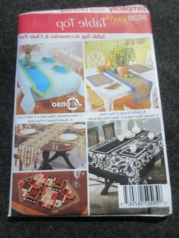 Simplicity pattern 5530 tablecloth runner seat cushion napki