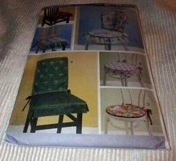 BUTTERICK PATTERN 5606 ~ CHAIR CUSHIONS and PADS *UNCUT