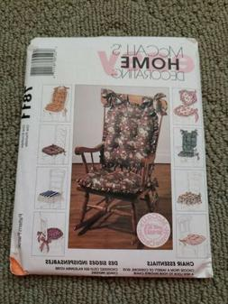 Pattern McCall's Sewing HOME DECORATING 7811 Uncut CHAIR CUS