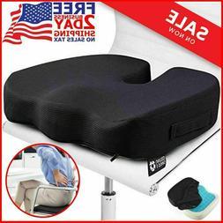PERFECT Orthopedic Memory Foam Gel Seat Back Cushion for Off