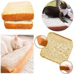 Pet Cushion Home Cat Resting Plush Pad Bread Toast Throw Pil