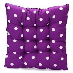 FENTI Polyester Polka Dot Chair Pad with Ties, Ultra Soft -