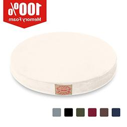 Shinnwa Chair Pad,Round Memory Foam Seat Cushion Lumbar Supp