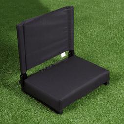 Portable Bleacher Seats With Backs Black Stadium Chair Cushi