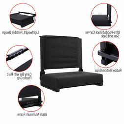 Portable Folding Stadium Seat Back Chair Bum Cushion Padded