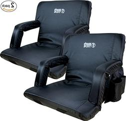Brawntide Portable Stadium Seat Chair - Extra Thick Padding,