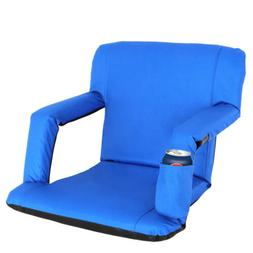 Portable Stadium Seat Chair Reclining Seat for Bleachers w/