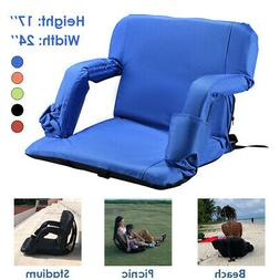 Portable Wide Stadium Seats for Bleachers with Back Support